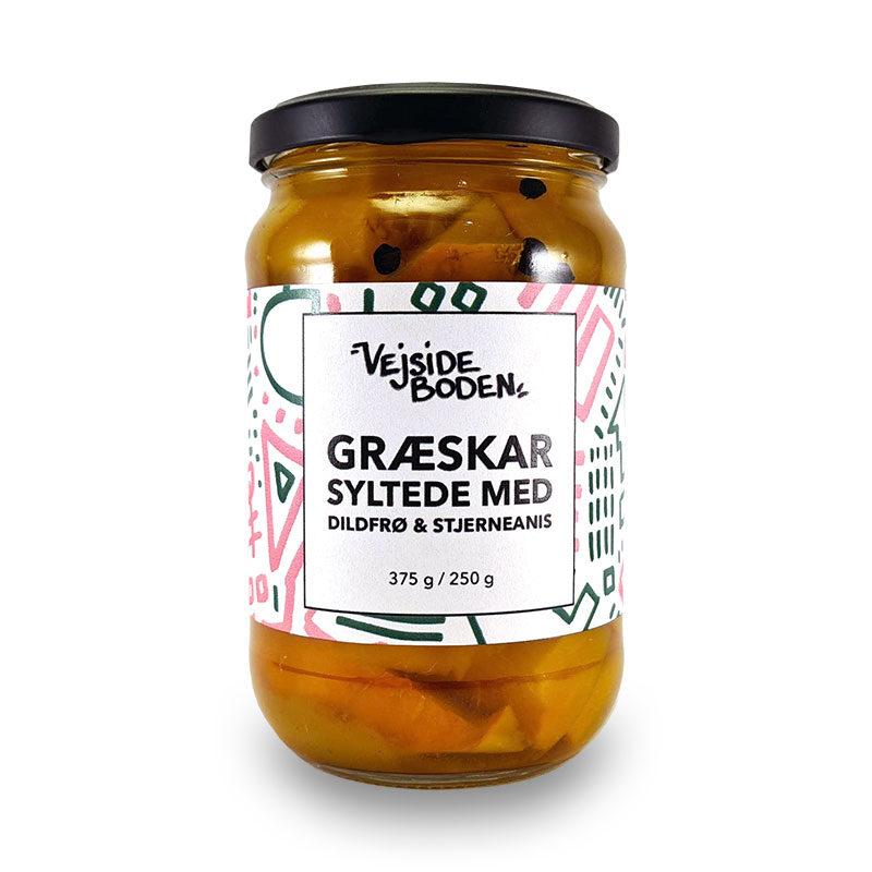 Syltede Græskar med Dildfrø og Stjerneanis 375 gram