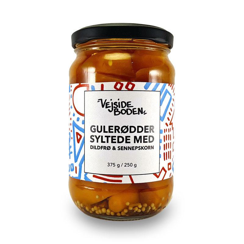 Syltede Gulerødder med Dildfrø og Sennepskorn 375 gram
